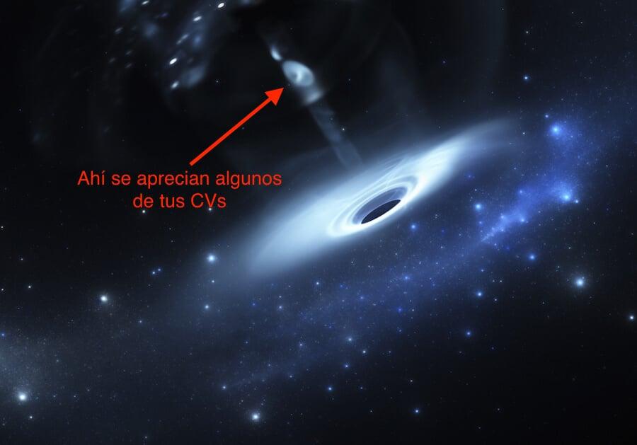 agujero negro CV